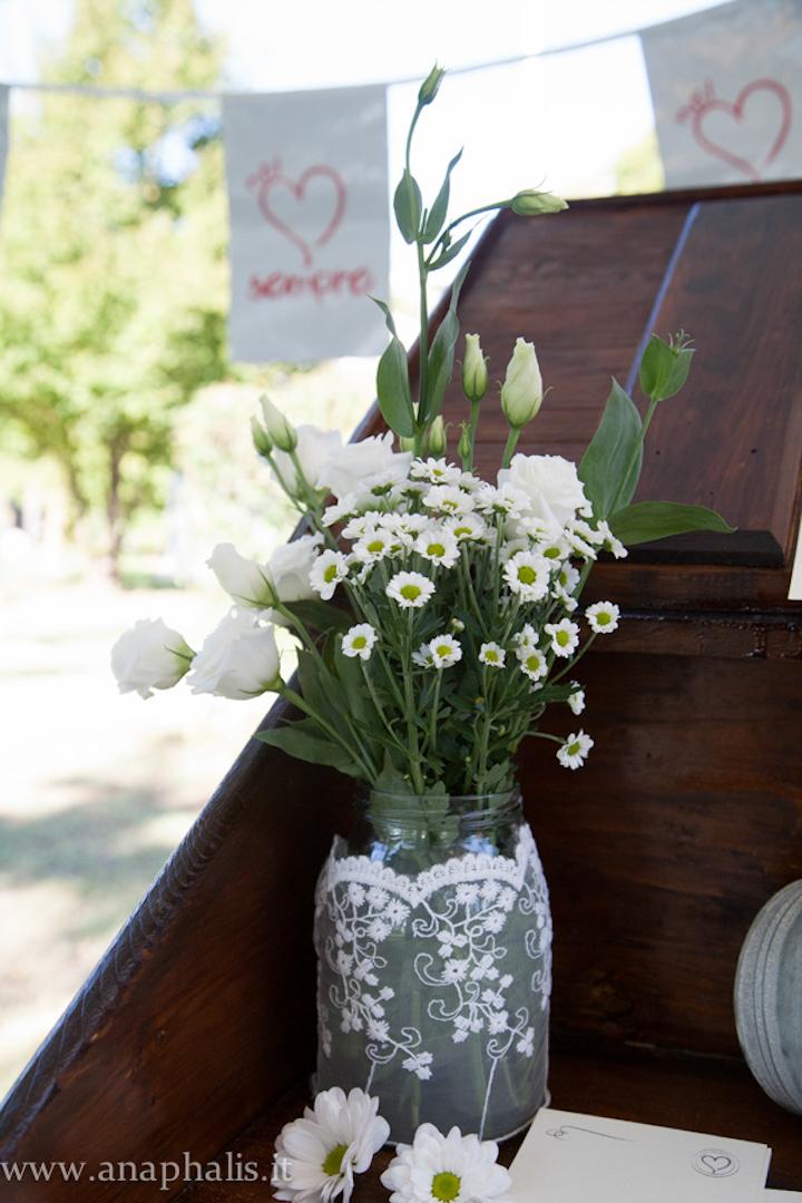 Matrimonio In Bianco : Matrimonio country chic in bianco e verde fioreria