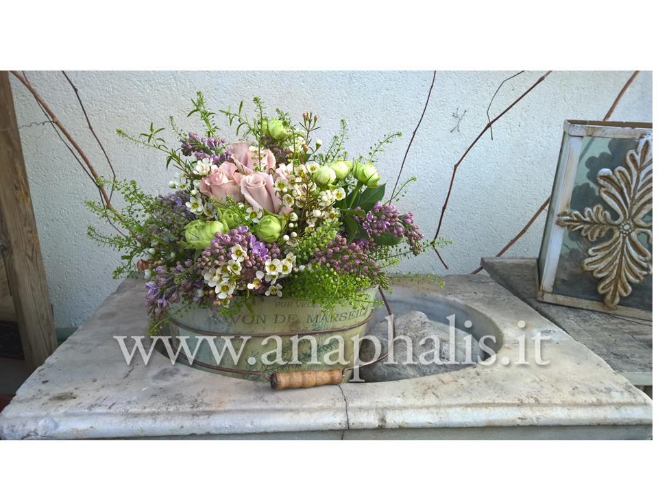 bouquet shabby in mastello marseille anaphalis